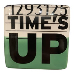 Time's Up Ceramic Wall Sculpture