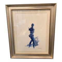 Navy Blue Nude Framed by S Wheeler