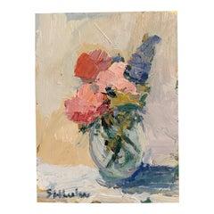 Mini Floral Oil on Panel