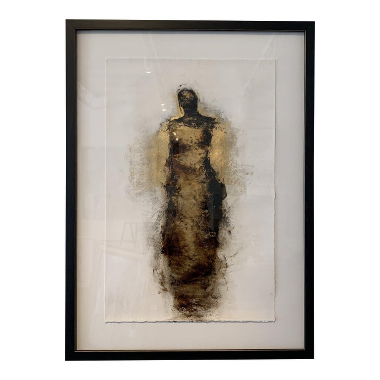 Figure with Gold Leaf by Tracy Sharp  For Sale 1