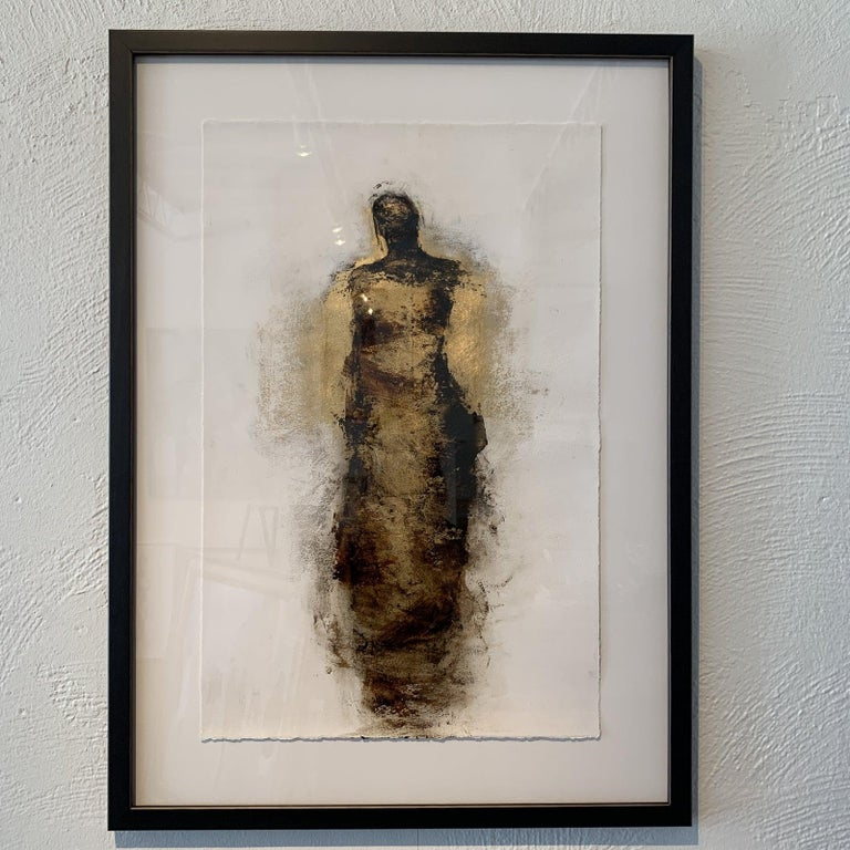 Figure with Gold Leaf by Tracy Sharp  For Sale 4