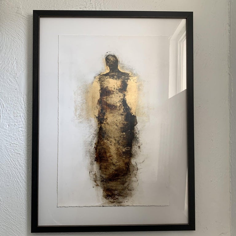 Figure with Gold Leaf by Tracy Sharp  For Sale 8