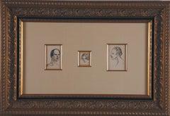 "Original ink drawings ""Trois Portraits"" by Steinlen"