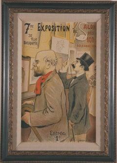 """Original vintage poster """"Salon de Cent"""""""