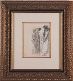 Original crayon drawing by Theophile Steinlen