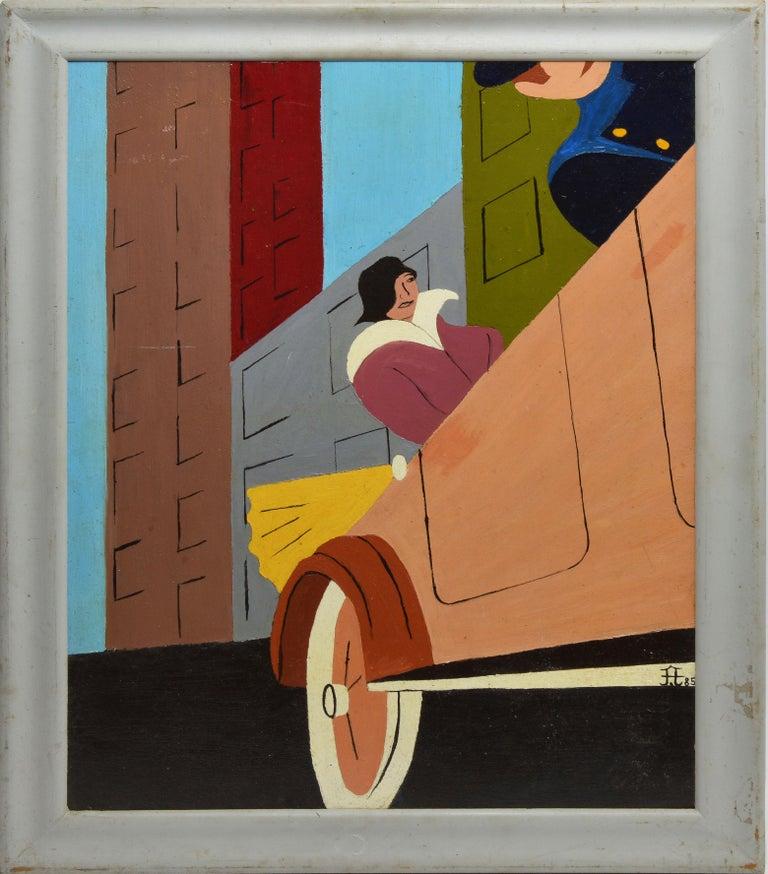 Frank Diaz Escalet - Art Deco City Cruise, Painting For