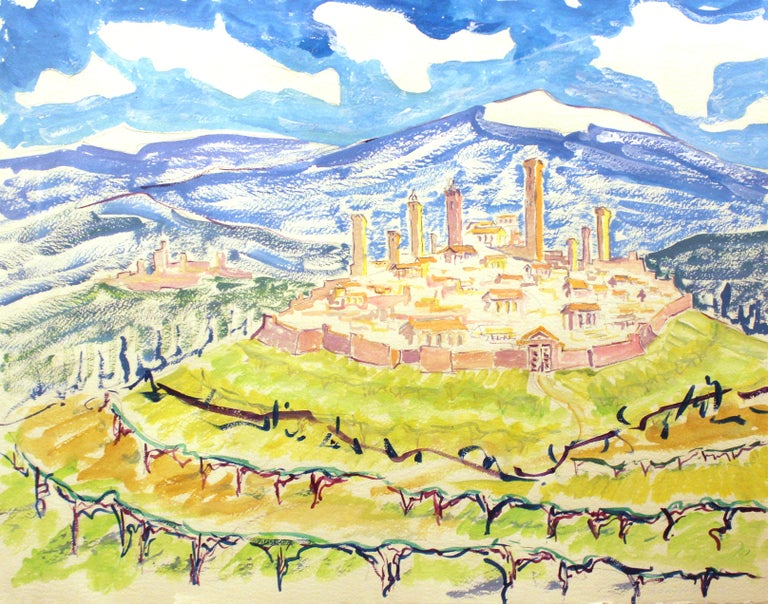 Unknown Landscape Art - Modernist View of Tuscany