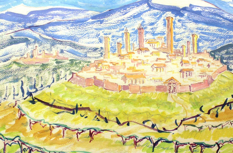 Modernist View of Tuscany - Art by Unknown