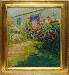 Female American Impressionist Wild Flower Landscape Painting