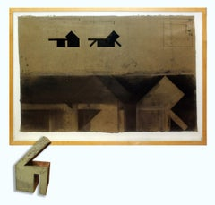 Minimalist Mixed Media Drawing and Sculpture Andrew Topolski American 1982