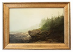 Contemporary American Realist Oil Painting Landscape Fog Hudson River Romantic