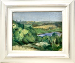 Modernist Landscape Painting by Mary Davis Greer