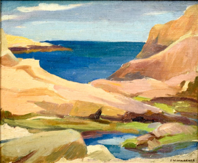 Impressionist Coastal Rhode Island Beach Oil Painting by Edna Lawrence  2