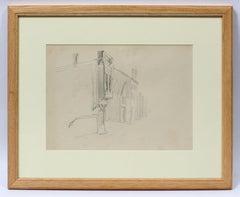 Original Rare Charles Burchfield Drawing Buildings Ohio 1919