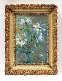 Mid Century Still Life by Listed Artist Adelia Samaha of White Daisies