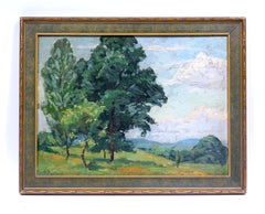 American Impressionist Oil Painting Woodstock, NY Landscape Carlson School 1927