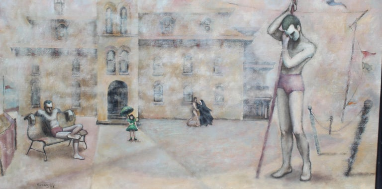 WPA Magic Realism Oil Painting National Gallery MOMA Thornberg Female 1930's For Sale 1