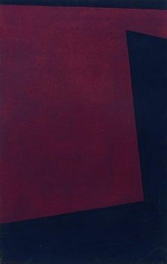 Minimalist Painting New York American Artist Female Purple Blue 1974