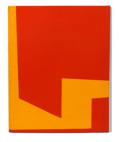 Minimalist Painting New York American Artist Female Orange Red 1974