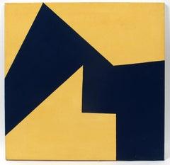 Minimalist Painting New York American Artist Female Yellow Blue 1975