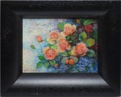 Antique Latin American Impressionist Flower Still Life, Efren Pelayo Apesteguia