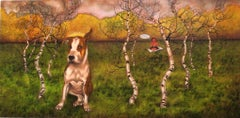 Original Contemporary Academic Realism Dog Portrait Landscape American Female