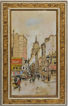 Antique Paris School Impressionist Cityscape Oil Painting by Jan Korthals