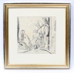 Ashcan School Landscape 1920's Quebec Alexander Levy American Drawing Framed