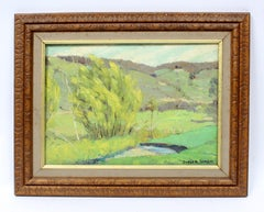 Country Landscape Oil Painting by American artist Earl Sherm 1940