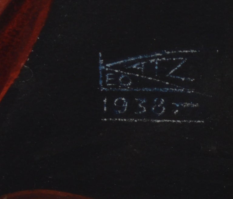 Vintage American Modernist Fruit Still Life Realist Painting by Leo Katz For Sale 7