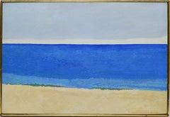 Vintage American Modernist Ocean View Oil Painting by Nancy Wissemann-Widrig