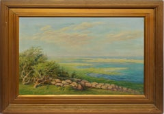 Antique American Expansive Panoramic Landscape Oil Painting by Frederick H Clark