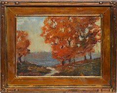 Antique American Impressionist Fall Landscape by Robert Emmett Owen