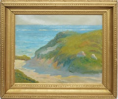 Antique Impressionist Hamptons Beach Seascape Oil Painting by Walter Cleveland