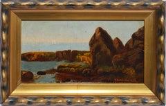 Antique Hudson River School Impressionist Landscape Oil Painting, S.D. Wentworth