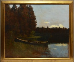 California Impressionist Oil Painting of the Russian River by Giuseppe Cadenasso