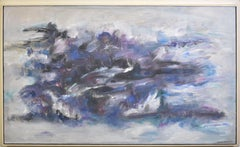 Mid Century Modern Abstract Expressionist Exhibited Oil Painting by Doris Porter
