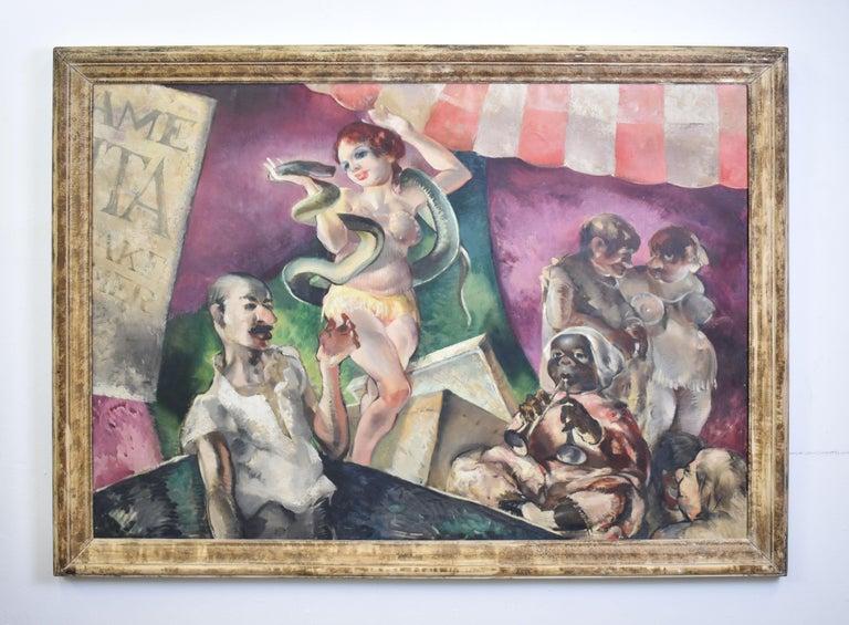 Dennis Burlingame, WPA Era, Circus Sideshow