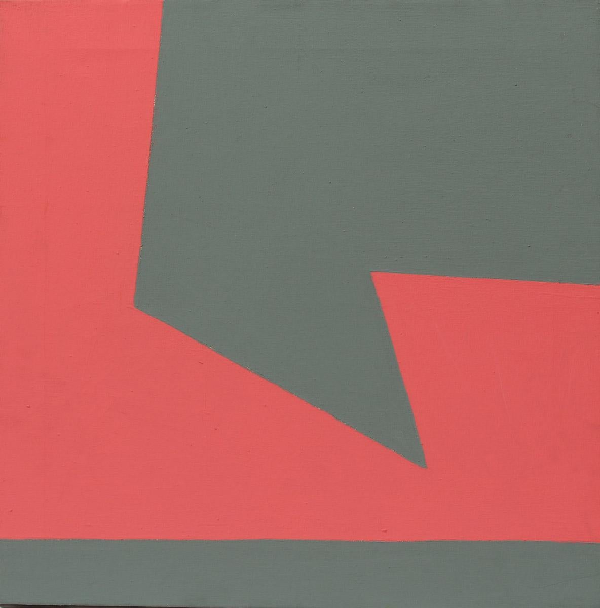 Minimalist Painting New York American Artist Female Grey Red 1975