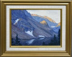 American Impressionist School, View in the Canyon, Original Montana Oil Painting