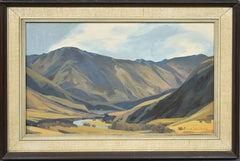Colin Wheeler Signed New Zealand Impressionist Wanaka River Valley Oil Painting
