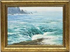 California Impressionist Coastal Ocean Seascape Oil Painting, Charles Clarke '21