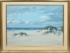 Antique Impressionist Hamptons Beach Seascape Oil Painting by Herbert Foerster