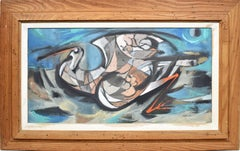 Cubist Animal Painting of a Bird by California Artist William Etienne Pajaud