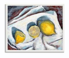 Mid Century Modern still life painting by New York Boston modern artist Lemons