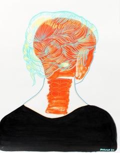 A conceptual contemporary portrait painting unique 2020 Emerging Outsider Art