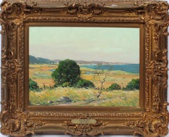 Antique Early Canadian Impressionist Panoramic Summer Landscape  Oil Painting