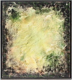 Antique American Modernist Abstract Original Oil Painting
