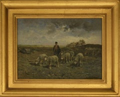 """""""A Shepherd and His Flock"""" by Frank Brissot"""