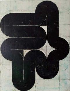 Knot - Abstract Art, Geometric, Acrylic, Contemporary, Minimalistic, monochrome
